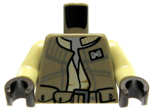 LEGO Star Wars Dark Tan Military Jacket with Light Tan Arms Loose Torso [Loose]