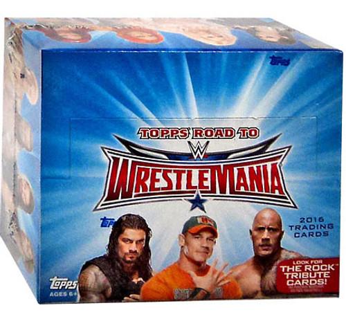 WWE Wrestling Topps 2016 Road to WrestleMania Trading Card HOBBY Box [24 Packs]