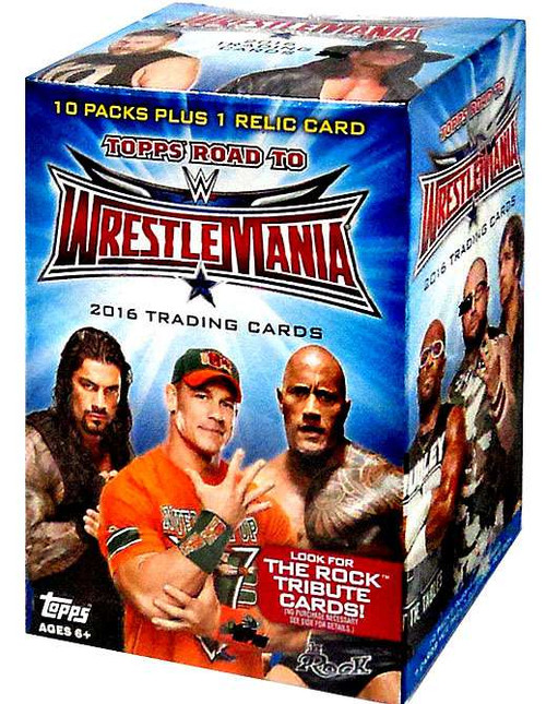WWE Wrestling Topps 2016 Road to WrestleMania Trading Card BLASTER Box [10 Packs]