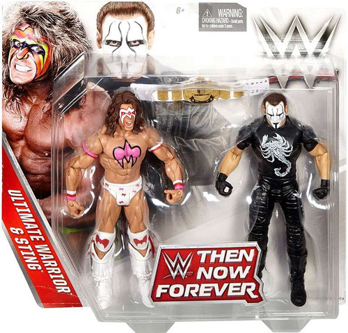 WWE Wrestling Battle Pack Then Now Forever Ultimate Warrior & Sting Exclusive Action Figure 2-Pack