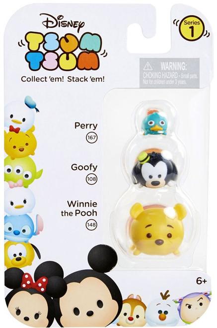 Disney Tsum Tsum Series 1 Perry, Goofy & Winnie the Pooh Minifigure 3-Pack #167, 108 & 148
