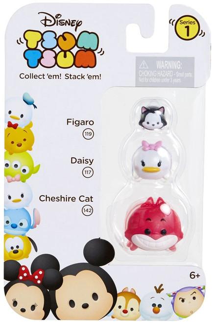 Disney Tsum Tsum Series 1 Figaro, Daisy & Cheshire Cat Minifigure 3-Pack #119, 117 & 142