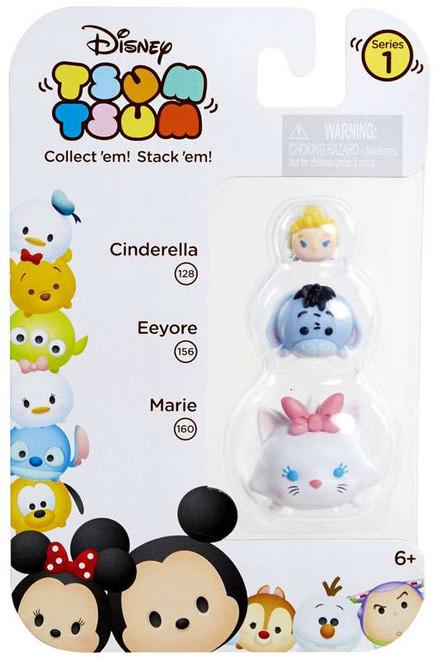 Disney Tsum Tsum Series 1 Cinderella, Eeyore & Marie Minifigure 3-Pack #128, 156 & 160