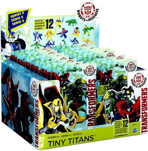 Transformers Robots in Disguise Tiny Titans Series 6 Mystery Box [24 Packs]