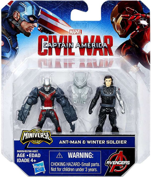 Captain America Civil War Ant Man & Winter Soldier 2.5-Inch Mini Figure 2-Pack