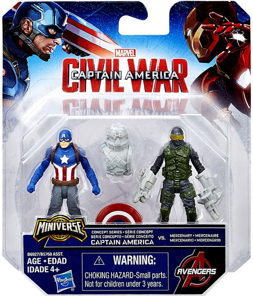 Civil War Concept Captain America & Mercenary 2.5-Inch Mini Figure 2-Pack