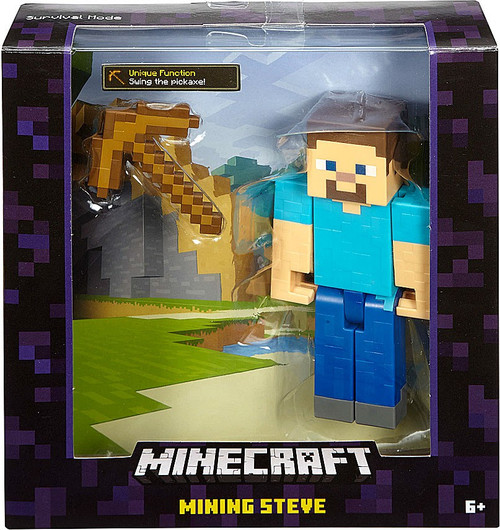 Minecraft Survival Mode Mining Steve Action Figure [Wood Pickaxe]