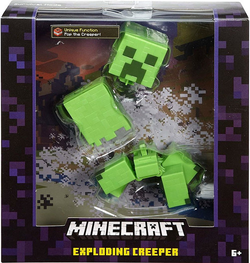Minecraft Survival Mode Exploding Creeper Action Figure