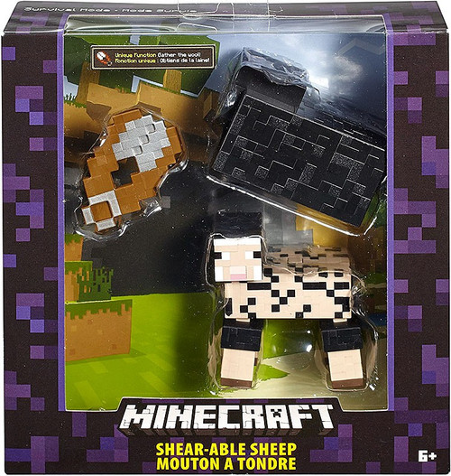 Minecraft Survival Mode Shear-Able Sheep Action Figure