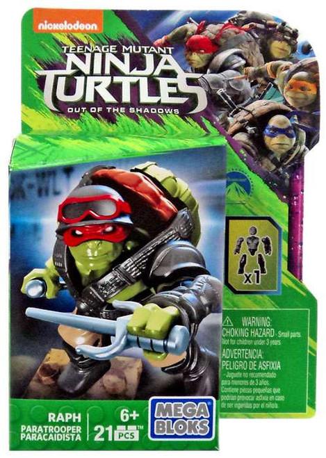Mega Bloks Teenage Mutant Ninja Turtles Out of the Shadows Raph Set DPW14 [Paratrooper]
