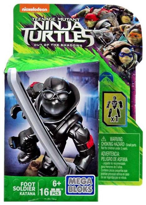 Mega Bloks Teenage Mutant Ninja Turtles Out of the Shadows Foot Soldier Set DPW16 [Katana]