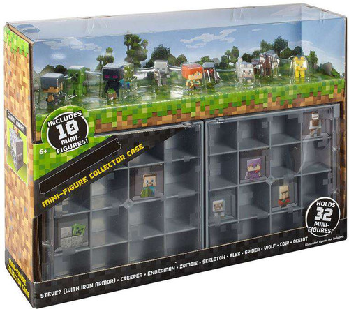 Minecraft Series 1 Grass Mini Figure Collector Case [Includes 10 Mini Figures]