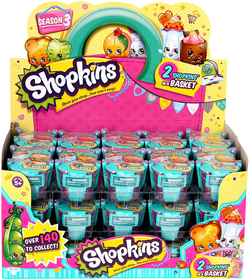 Shopkins Season 3 Box of 30 Mini Figure 2-Packs