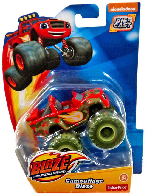 Fisher Price Blaze & the Monster Machines Camouflage Blaze Diecast Car