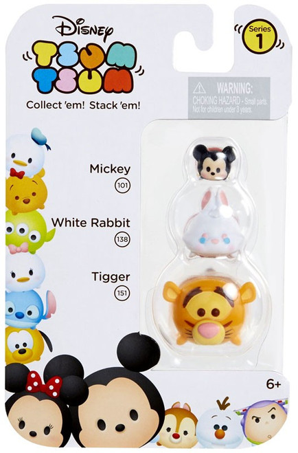 Disney Tsum Tsum Series 1 Mickey, White Rabbit & Tigger Minifigure 3-Pack #101, 138 & 151
