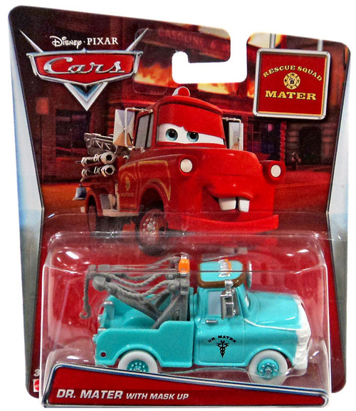 Disney / Pixar Cars Rescue Squad Mater Dr. Mater with Mask Up Diecast Car