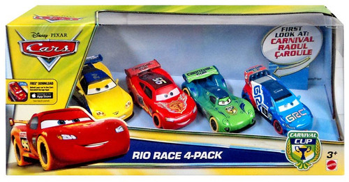 Disney / Pixar Cars Carnival Cup Rio Race Exclusive Diecast Car 4-Pack
