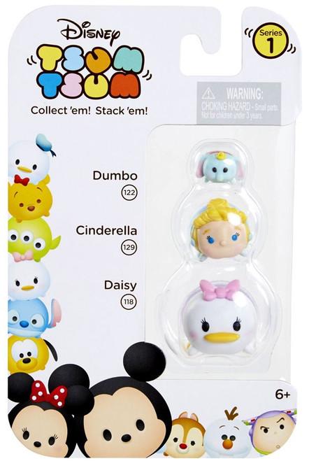 Disney Tsum Tsum Series 1 Dumbo, Cinderella & Daisy Minifigure 3-Pack #122, 129 & 118