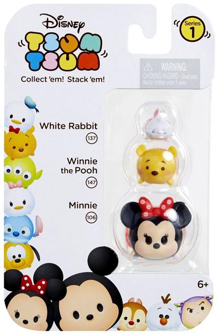 Disney Tsum Tsum Series 1 White Rabbit, Winnie the Pooh & Minnie Minifigure 3-Pack #137, 147 & 106