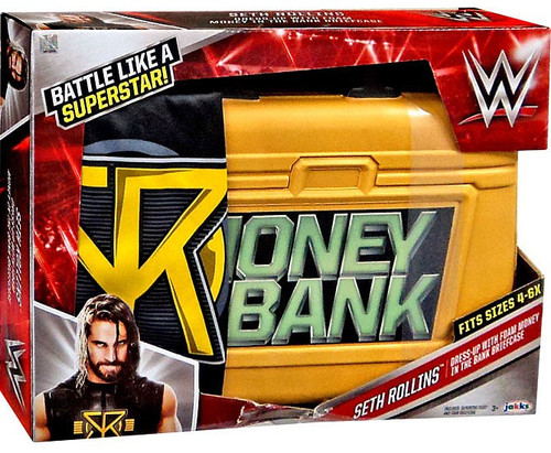 WWE Wrestling Seth Rollins Dress-Up with Money in the Bank Briefcase