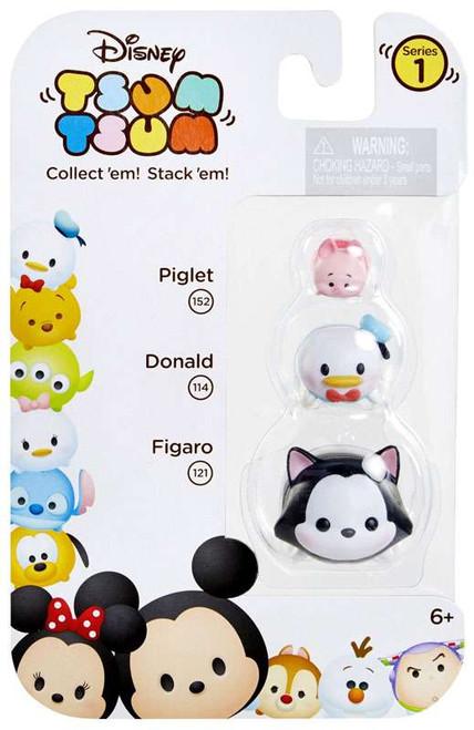 Disney Tsum Tsum Series 1 Piglet, Donald & Figaro Minifigure 3-Pack #152, 114 & 121