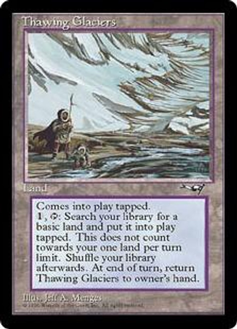 MtG Alliances Rare Thawing Glaciers [Moderately Played]