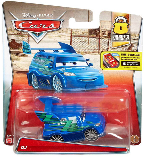 Disney / Pixar Cars Sheriff's Impound Lot DJ Diecast Car #2/6