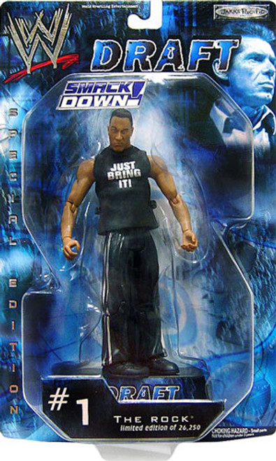 WWE Wrestling Smackdown Draft The Rock Action Figure #1 [Damaged Package]