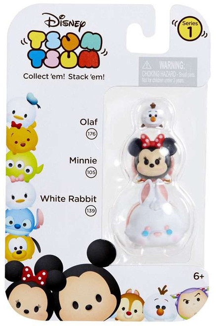 Disney Tsum Tsum Series 1 Olaf, Minnie & White Rabbit Minifigure 3-Pack #176, 105 & 139