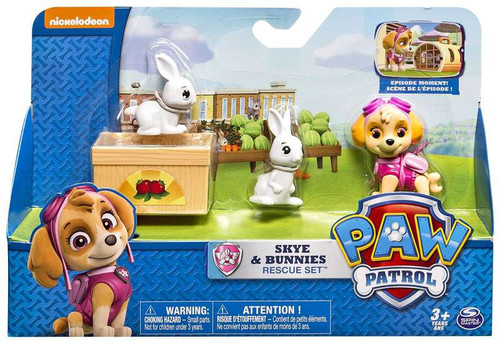Paw Patrol Rescue Set Skye & Bunnies Figure