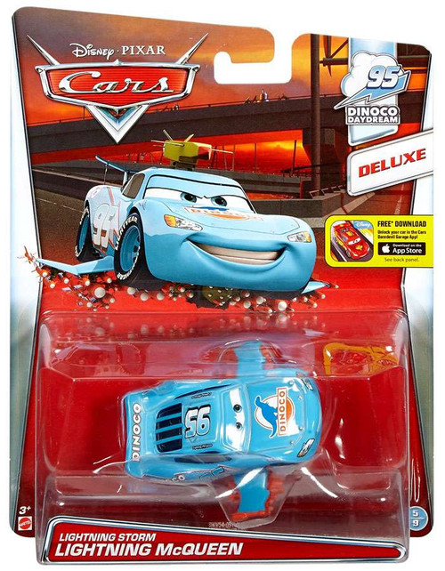 Disney / Pixar Cars 95 Dinoco Daydream Lightning Storm Lightning McQueen Diecast Car #5/9 [Deluxe]