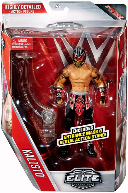 WWE Wrestling Elite Collection Series 42 Kalisto Action Figure [Entrance Mask & Aerial Action Stand]