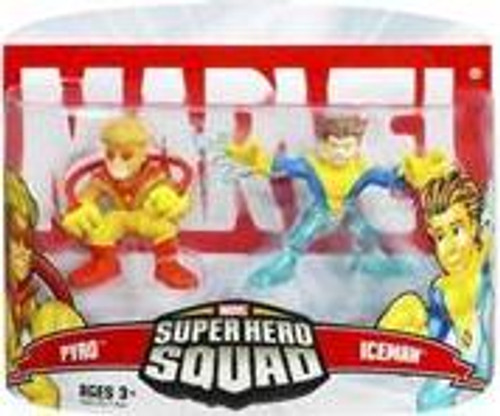 Marvel Super Hero Squad Series 5 Pyro & Iceman 3-Inch Mini Figure 2-Pack [Damaged Package]