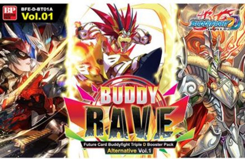 Future Card BuddyFight Trading Card Game Buddy Rave Booster Box BFE-D-BT01A [30 Packs]