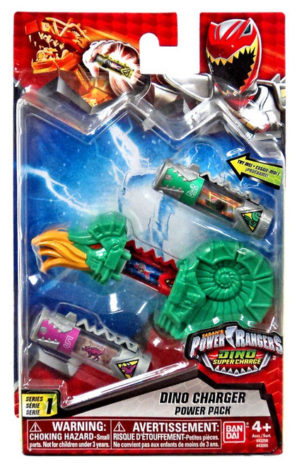 Power Rangers Dino Super Charge Series 1 Green Dino Charger Power Pack #32652