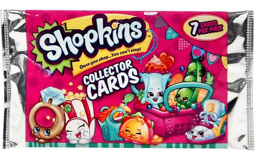 Season 3 Shopkins Collector Trading Cards Pack [7 Cards]