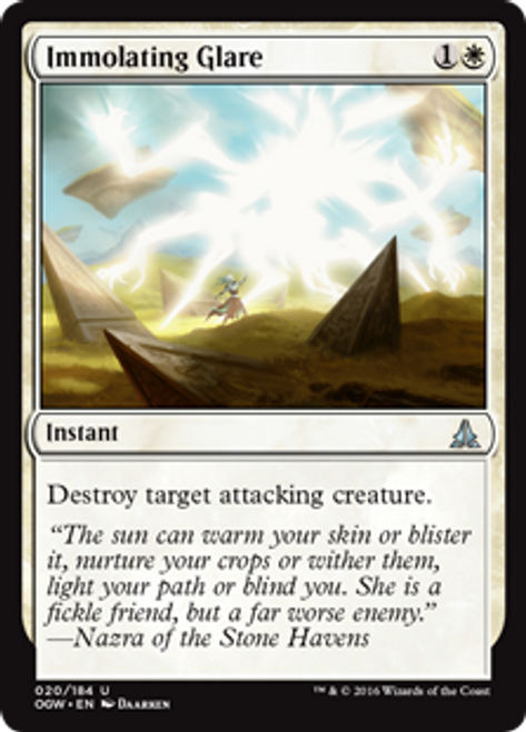 MtG Oath of the Gatewatch Uncommon Foil Immolating Glare #20