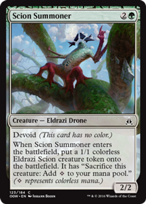 MtG Oath of the Gatewatch Common Foil Scion Summoner #123