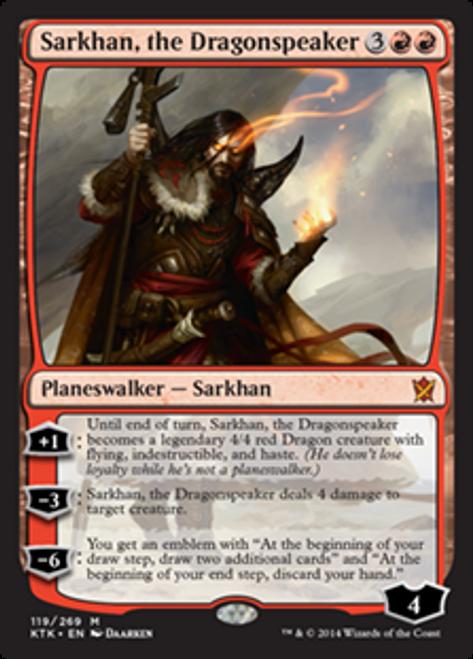 MtG Khans of Tarkir Mythic Rare Foil Sarkhan, the Dragonspeaker #119