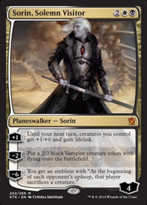 MtG Khans of Tarkir Mythic Rare Foil Sorin, Solemn Visitor #202