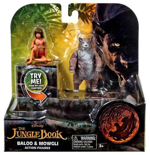 Disney The Jungle Book 2016 Movie Baloo & Mowgli 3-Inch Figure 2 Pack
