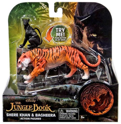 Disney The Jungle Book 2016 Movie Shere Khan & Bagheera 3-Inch Figure 2 Pack