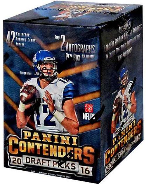 NFL Panini 2016 Contenders Draft Picks Football Trading Card BLASTER Box [2 Autographs Per Box!]