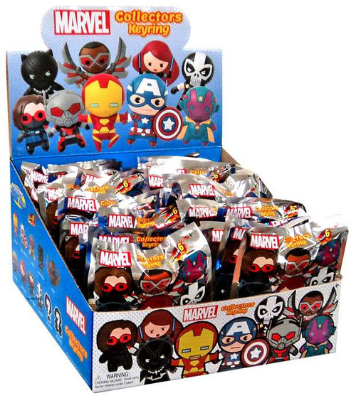 3D Figural Keyring Marvel Series 6 Mystery Box [24 Packs]