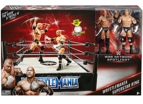 WWE Wrestling Network Spotlight WrestleMania Exclusive Superstar Ring [The Rock & Triple H]