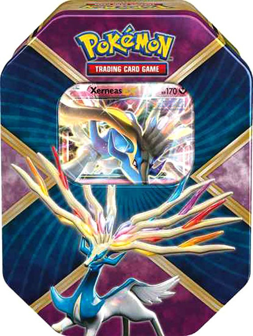 Pokemon Trading Card Game 2016 Shiny Kalos Xerneas Tin Set [4 Booster Packs & Promo Card!]