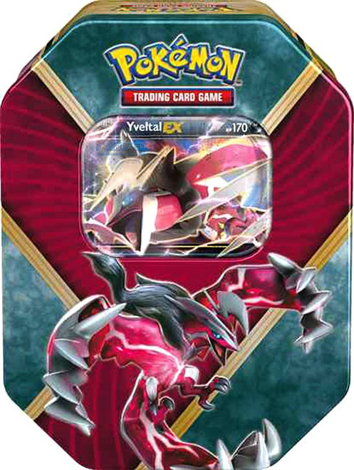 Pokemon Trading Card Game 2016 Shiny Kalos Yveltal EX Tin Set [4 Booster Packs & Promo Card!]