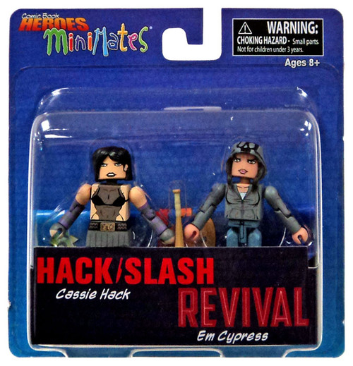 Hack / Slash Revival Comic Book Heroes Minimates Cassie Hack & Em Cypress 2-Inch Minifigure 2-Pack
