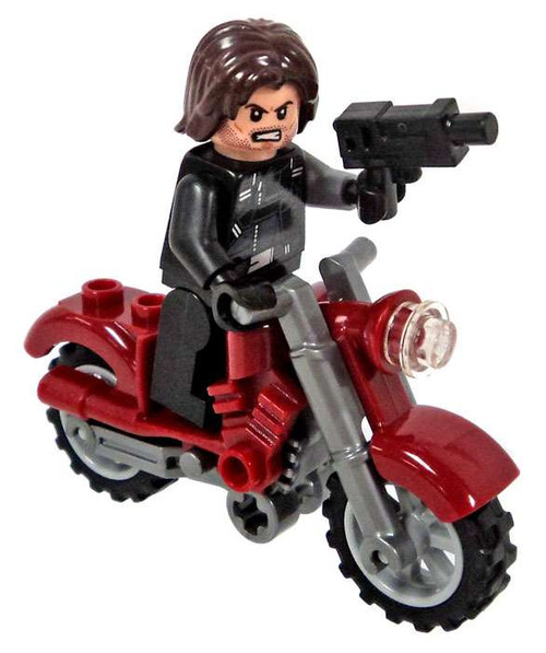 LEGO Marvel Super Heroes Captain America: Civil War Winter Soldier with Motorcycle Minifigure [Loose]