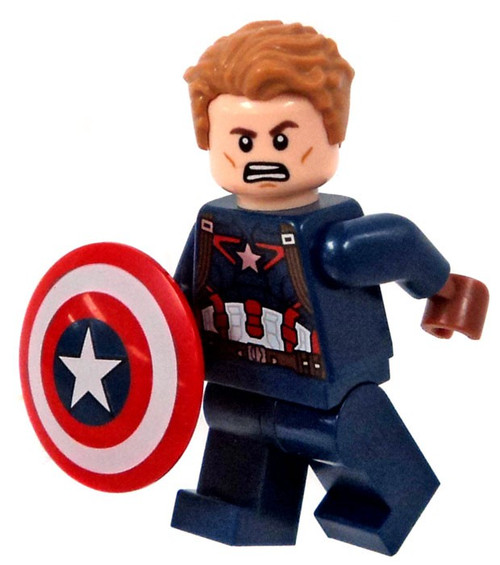 LEGO Marvel Super Heroes Captain America: Civil War Captain America Minifigure [Unmasked Loose]